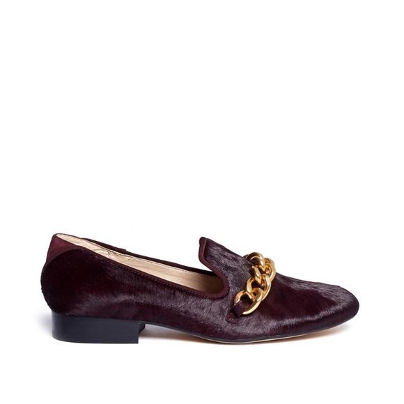 8f2e4897846499 Sam Edelman Shoes - SAM EDELMAN KOLLINS CHAIN CALF HAIR LOAFERS ~ 9